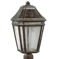 Feiss® Londontowne 3-Light Outdoor 19-1/2-Inch LED Post Light in Weathered Chestnut