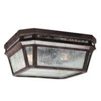 Feiss® Londontowne 2-Light Outdoor Flush Mount Fixture in Chestnut