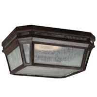 Feiss® Londontowne 1-Light LED Outdoor Flush Mount Fixture in Chestnut