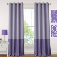 Elrene Madeline 84-Inch Room-Darkening Grommet Top Window Curtain Panel in Purple