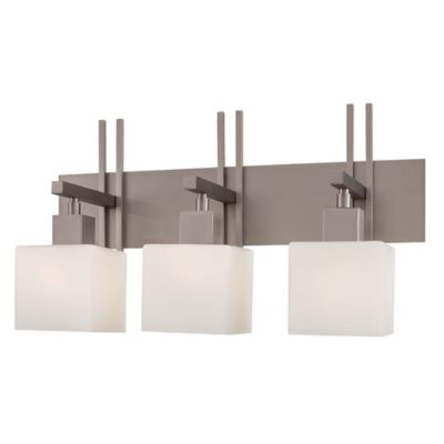Wall Lamps Bed Bath Beyond : George Kovacs Torii 3-Light Wall Sconce in Brushed Nickel - Bed Bath & Beyond