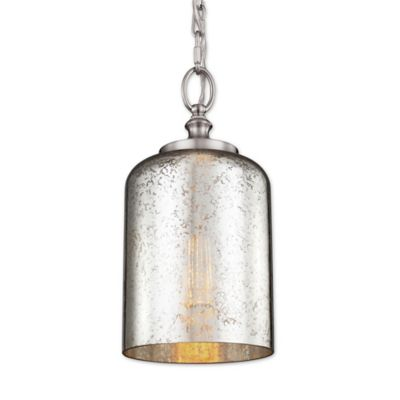 Feiss® Houndslow 1-Light Mini Pendant in Brushed Steel with Silver Plating Glass Shade  sc 1 st  Bed Bath \u0026 Beyond & Buy Decorative Mini Plates from Bed Bath \u0026 Beyond