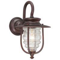 "Minka Lavery Spyglass Cove 18"" 1-Light Outdoor Wall Lantern in Chelsea Bronze"