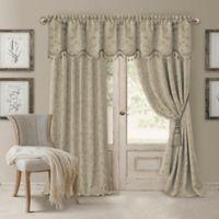 Elrene Mia 84-Inch Room-Darkening Rod Pocket /Back Tab Window Curtain Panel in Natural