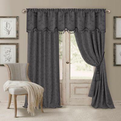 Elrene Mia Room Darkening Scallop Window Valance In Grey