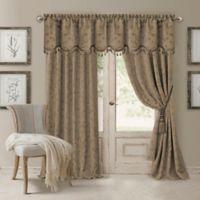Elrene Mia 84-Inch Room-Darkening Rod Pocket /Back Tab Window Curtain Panel in Taupe