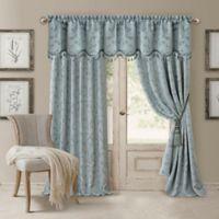 Elrene Mia 95-Inch Room-Darkening Rod Pocket /Back Tab Window Curtain Panel in Blue