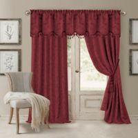 Elrene Mia 84-Inch Room-Darkening Rod Pocket /Back Tab Window Curtain Panel in Rouge