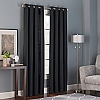 Bianca 95-Inch Grommet Top Window Curtain Panel in Black