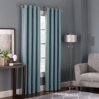 Bianca 63-Inch Grommet Top Window Curtain Panel in Spa
