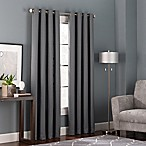 Bianca 63-Inch Grommet Top Window Curtain Panel in Charcoal