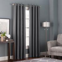 Bianca 84-Inch Grommet Top Window Curtain Panel in Charcoal