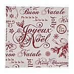 Design Imports Vintage Christmas Napkins in Red/White (Set of 6)