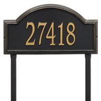 Whitehall Products Providence Arch Address Plaque in Black/Gold
