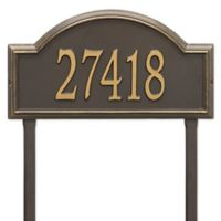 Whitehall Products Providence Arch Address Plaque in Bronze/Gold