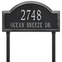 Whitehall Providence Arch 2-Line Lawn Mounted Plaque in Black/Silver