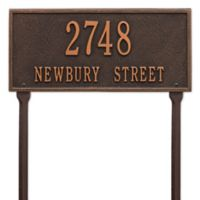 Whitehall Products Hartford 2-Line Standard Lawn Plaque in Bronze