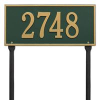 Whitehall Products Hartford 1-Line Standard Lawn Plaque in Green/Gold