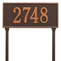 Whitehall Products Hartford 1-Line Standard Lawn Plaque in Antique Copper
