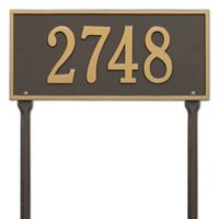 Whitehall Products Hartford 1-Line Standard Lawn Plaque in Bronze/Gold