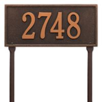 Whitehall Products Hartford 1-Line Standard Lawn Plaque in Bronze