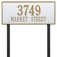 Whitehall Products Hartford 2-Line Lawn Plaque in White/Gold