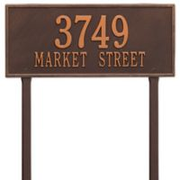 Whitehall Products Hartford 2-Line Lawn Plaque in Copper