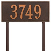 Whitehall Products Hartford Estate Lawn Address Plaque in Bronze