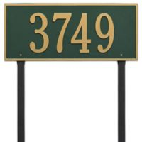 Whitehall Products Hartford Estate Lawn Address Plaque in Green/Gold