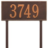 Whitehall Products Hartford Estate Lawn Address Plaque in Copper
