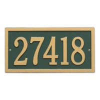 Bismark 1-Line Standard Wall Plaque in Green/Gold