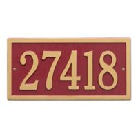 Bismark 1-Line Standard Wall Plaque in Red/Gold