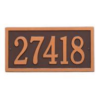 Bismark 1-Line Standard Wall Plaque in Copper
