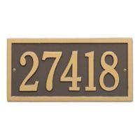 Bismark 1-Line Standard Wall Plaque in Bronze/Gold