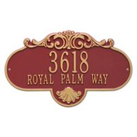 Rochelle Grande 1-Line Wall Plaque in White/Gold