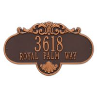 Rochelle Grande 1-Line Wall Plaque in Bronze/Gold