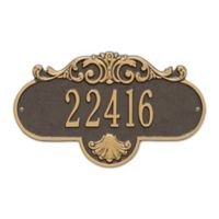 Whitehall Products Standard One-Line Rochelle Wall Plaque in Bronze/Gold