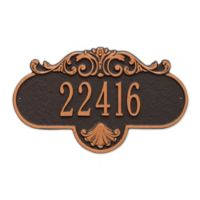 Whitehall Products Standard One-Line Rochelle Wall Plaque in Black/Gold