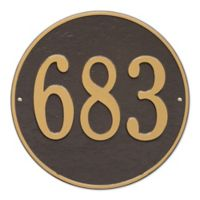 Whitehall Products 15-in Round House Numbers Plaque in Pewter Silver