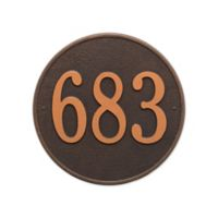 Whitehall Products 15-in Round House Numbers Plaque in Black & Gold