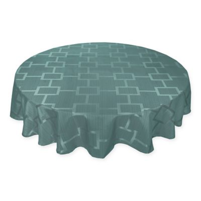 Origins™ Tribeca Microfiber 90 Inch Round Tablecloth In Turquoise