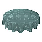 Origins™ Tribeca Microfiber 90-Inch Round Tablecloth in Turquoise