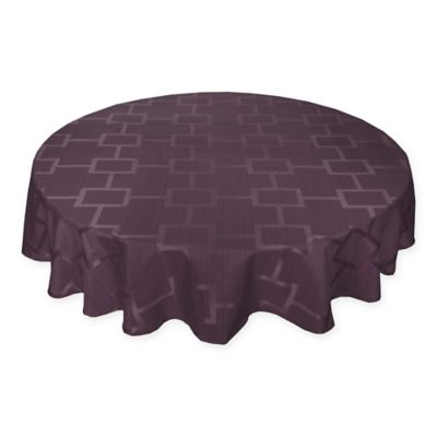 Origins™ Tribeca Microfiber 60 Inch Round Tablecloth In Plum