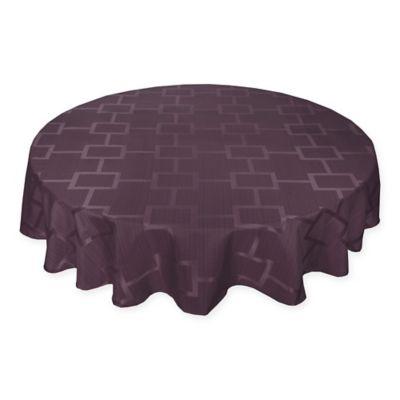 Origins™ Tribeca Microfiber 90 Inch Round Tablecloth In Plum