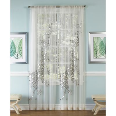 Sheer Curtains 96 sheer curtains : Buy Silver Sheer Curtains from Bed Bath & Beyond