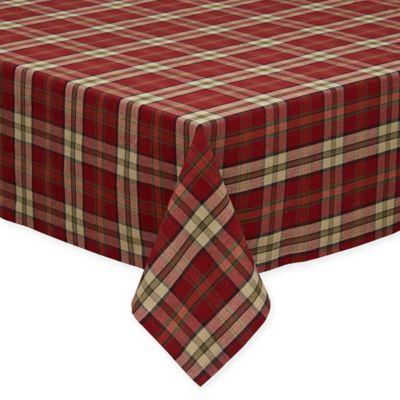 Campfire Plaid 52 Inch X 52 Inch Square Tablecloth