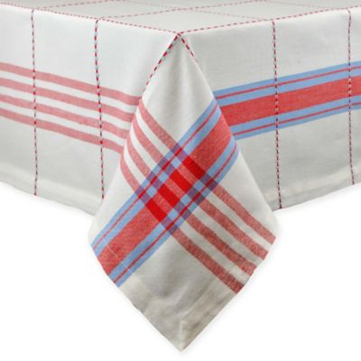 Copeville Plaid 52 Inch X 52 Inch Square Tablecloth
