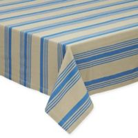 Design Imports Sailor Stripe 52-Inch Square Tablecloth