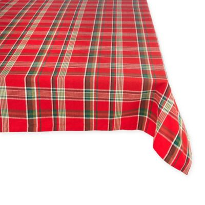 Tango Holiday 60 Inch X 104 Inch Plaid Tablecloth In Red