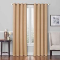 Insola Dorian Grommet Top 63-Inch Window Curtain Panel in Gold